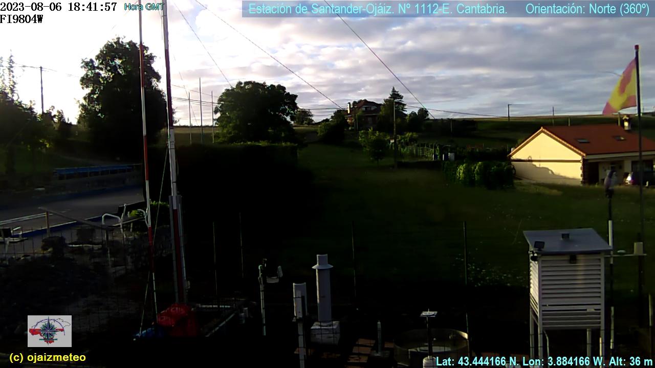 Webcam y Estaci�n meteorol�gica Oj�iz Pe�acastillo Santander Cantabria
